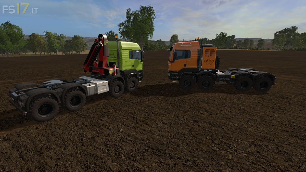 MAN TGS 41 570 8x8 Pack v 2 0 Multicolor - FS17 mods