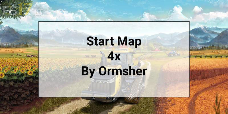 Start Map 4x with Extra Foliage Layers v 1 0 - FS17 mods