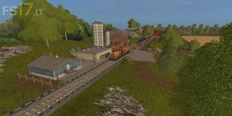 Big Hills Map Train Edition v 1.0 - FS17 mods