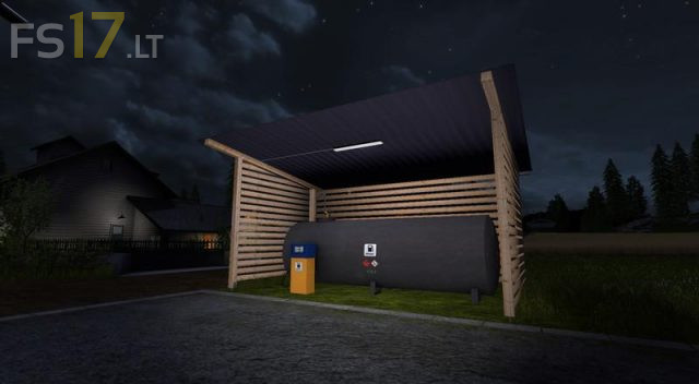 gas-station-with-shelter-and-night-light