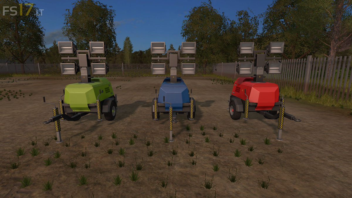 Flood lights mod : Lizard flood light trailer v multicolor fs mods