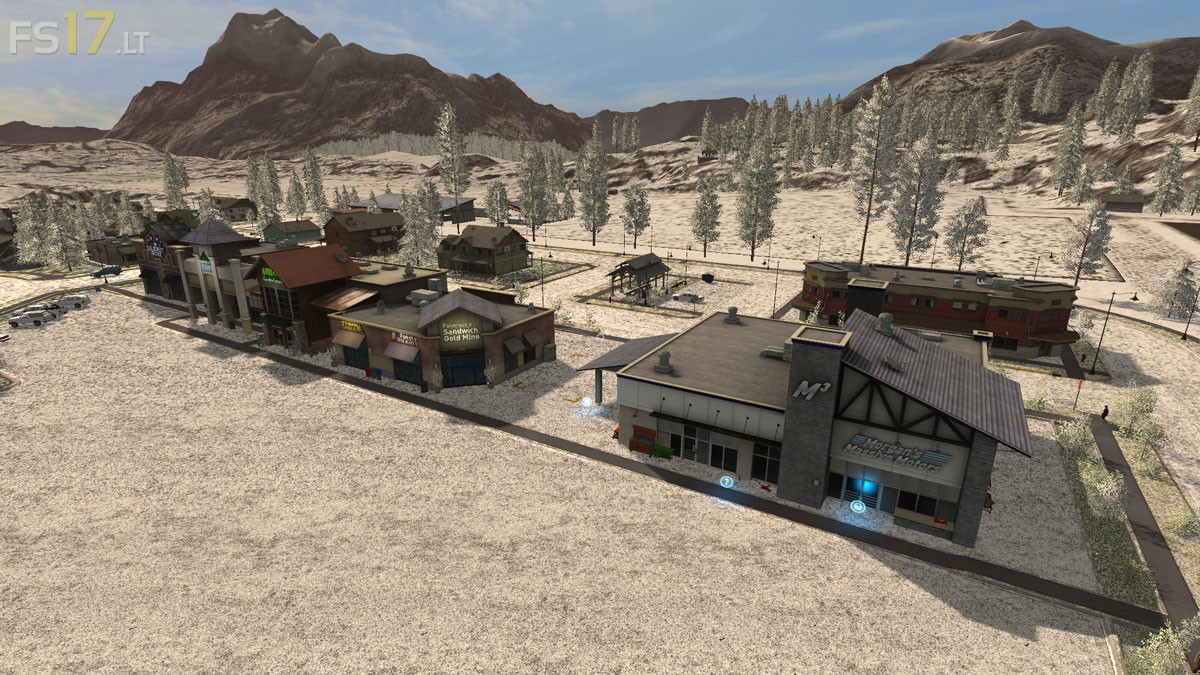 Standard Goldcrest Valley Map with Snow Texture v 2 0 - FS17