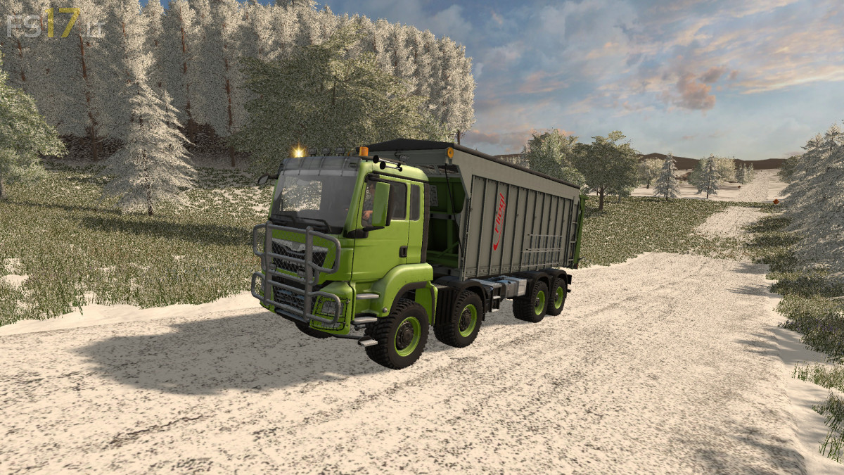 MAN TGS 8x8 with Fliegl Extension v 2 0 - FS17 mods