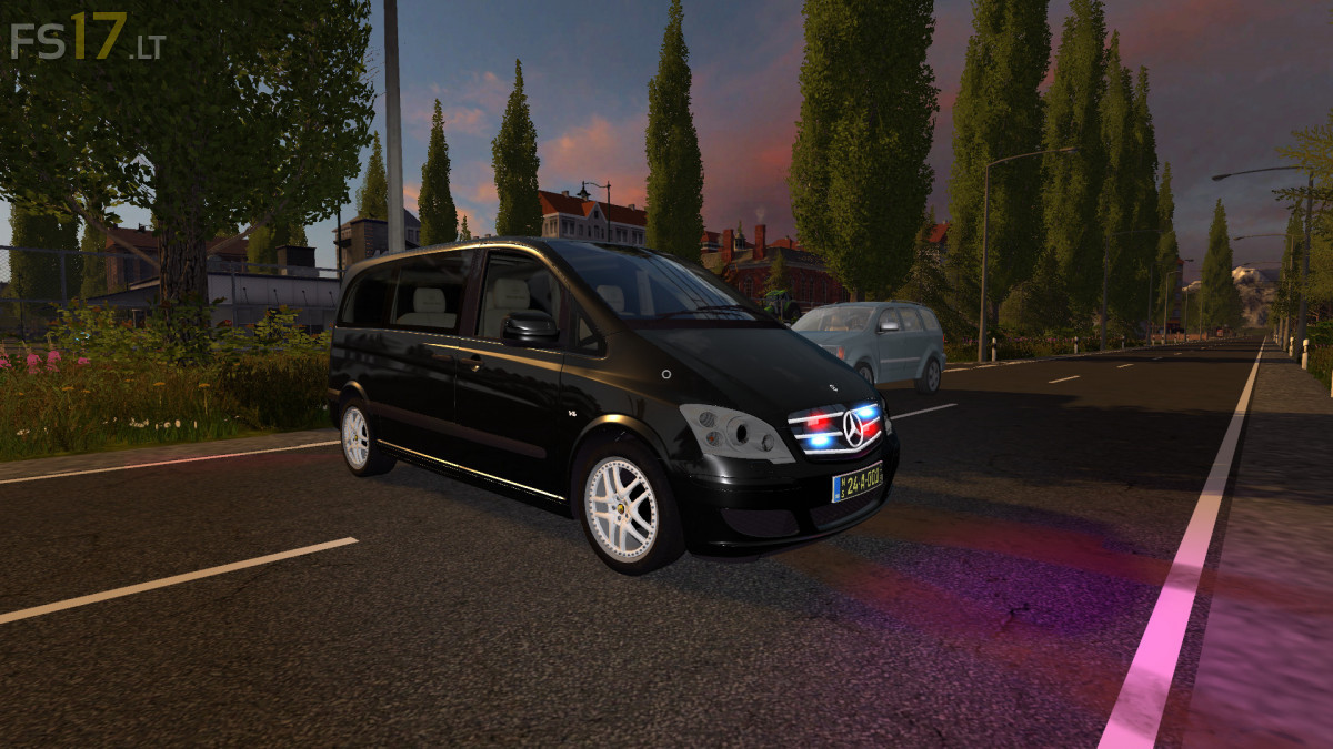 Mercedes benz viano diplomatic police fs17 mods for Mercedes benz viano 2017