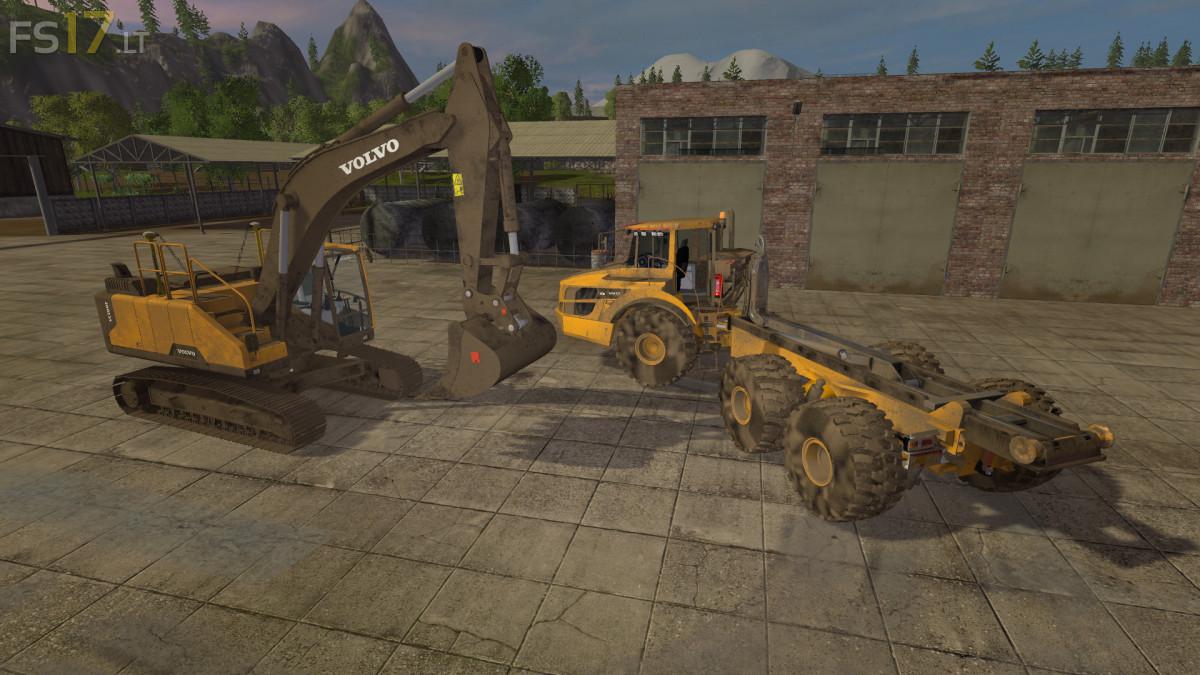 Volvo Ec300e Excavator Amp A40 Truck V 1 0 Fs17 Mods