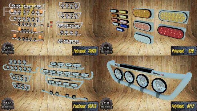 Kelsa Light Bar Pack For Mercedes Actros V 1 0 Fs17 Mods