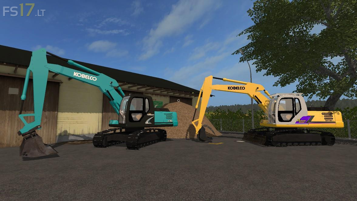 Kobelco Excavators Pack v 1.0 - FS17 mods