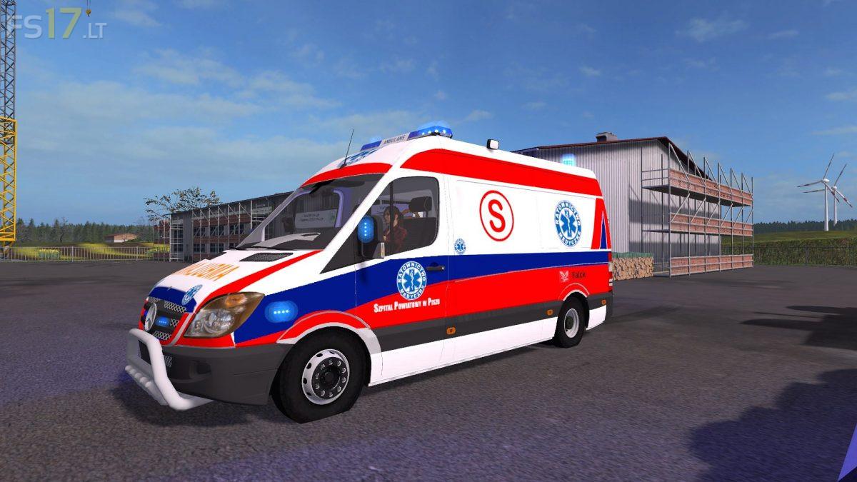 Mercedes Benz Sprinter Poland Ambulance v 1 0 - FS17 mods