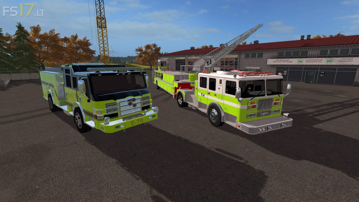 Airport Firetrucks Pack v 1 0 - FS17 mods