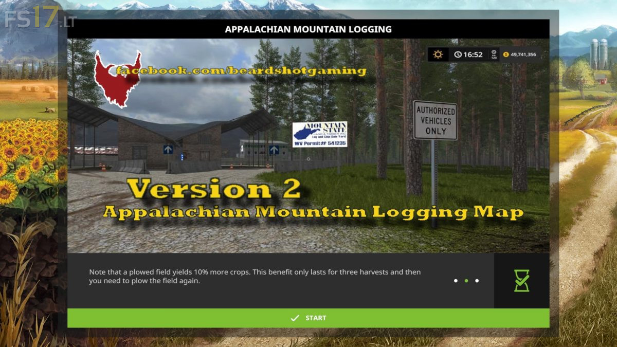 Appalachian Mountain Logging Map v 2.1 - FS17 mods