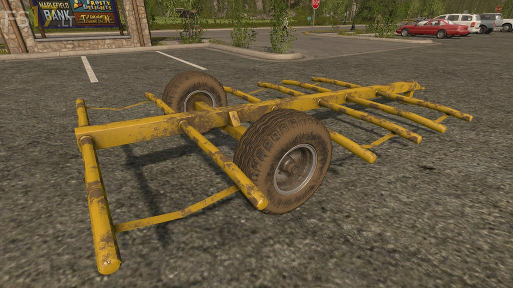 Homemade Round Bale Trailer v 1 0 1 0 - FS17 mods