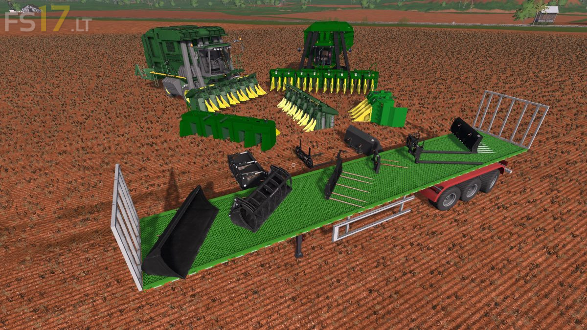 Cotton Harvesting Pack v 1 0 - FS17 mods