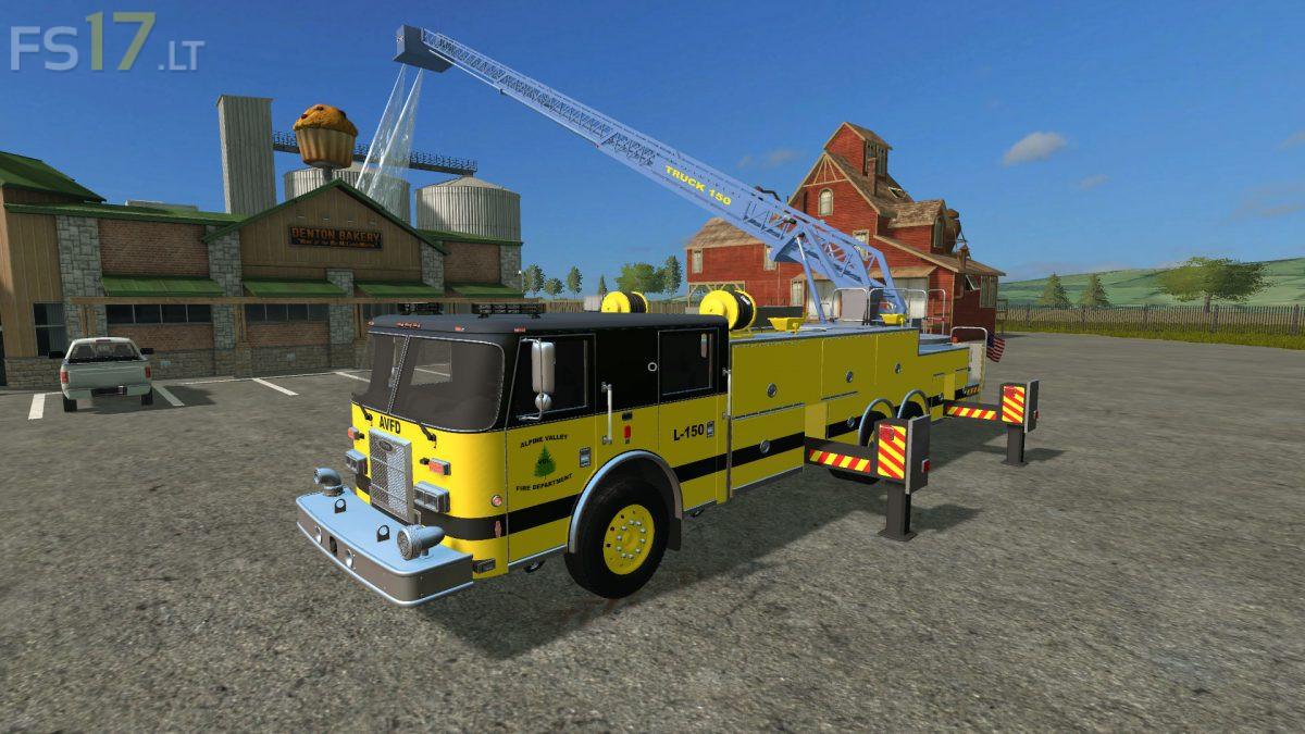 Pierce Enforcer Ladder Firetruck v 1 0 - FS17 mods