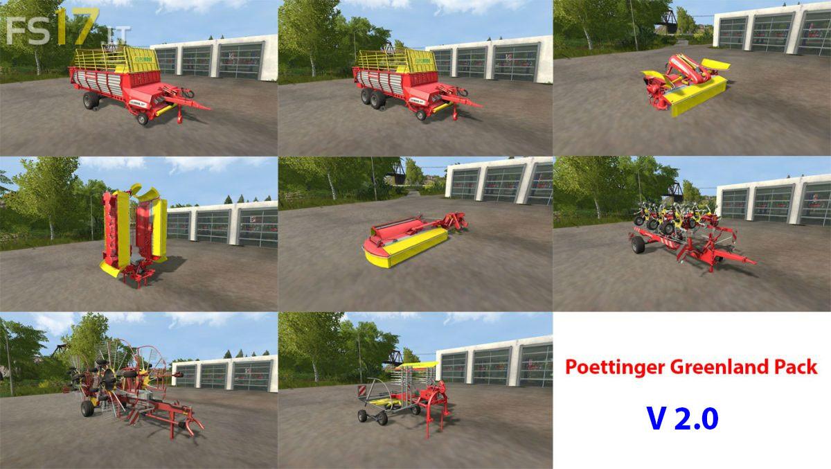 Poettinger Greenland Pack v 2 0 - FS17 mods