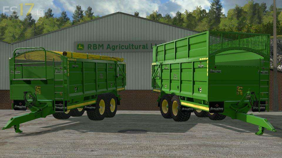 Broughan Silage/Grain Trailers v 1 1 - FS17 mods