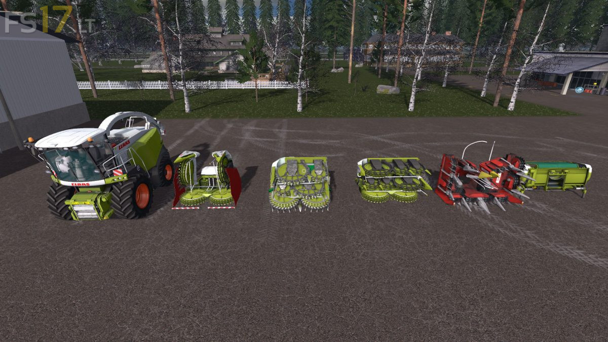 300 Hp Cars >> Claas Jaguar 900 Type 496 Pack v 1.0 - FS17 mods