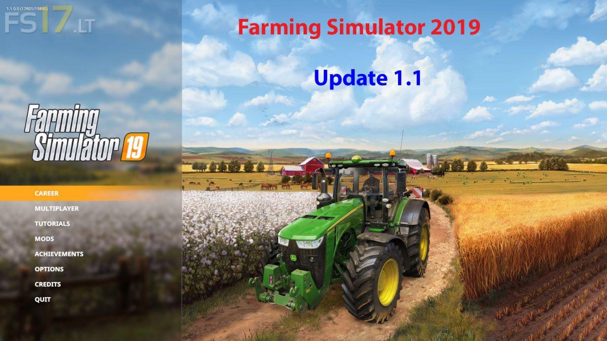 Farming Simulator 2019 update v 1 1 - FS19 mods