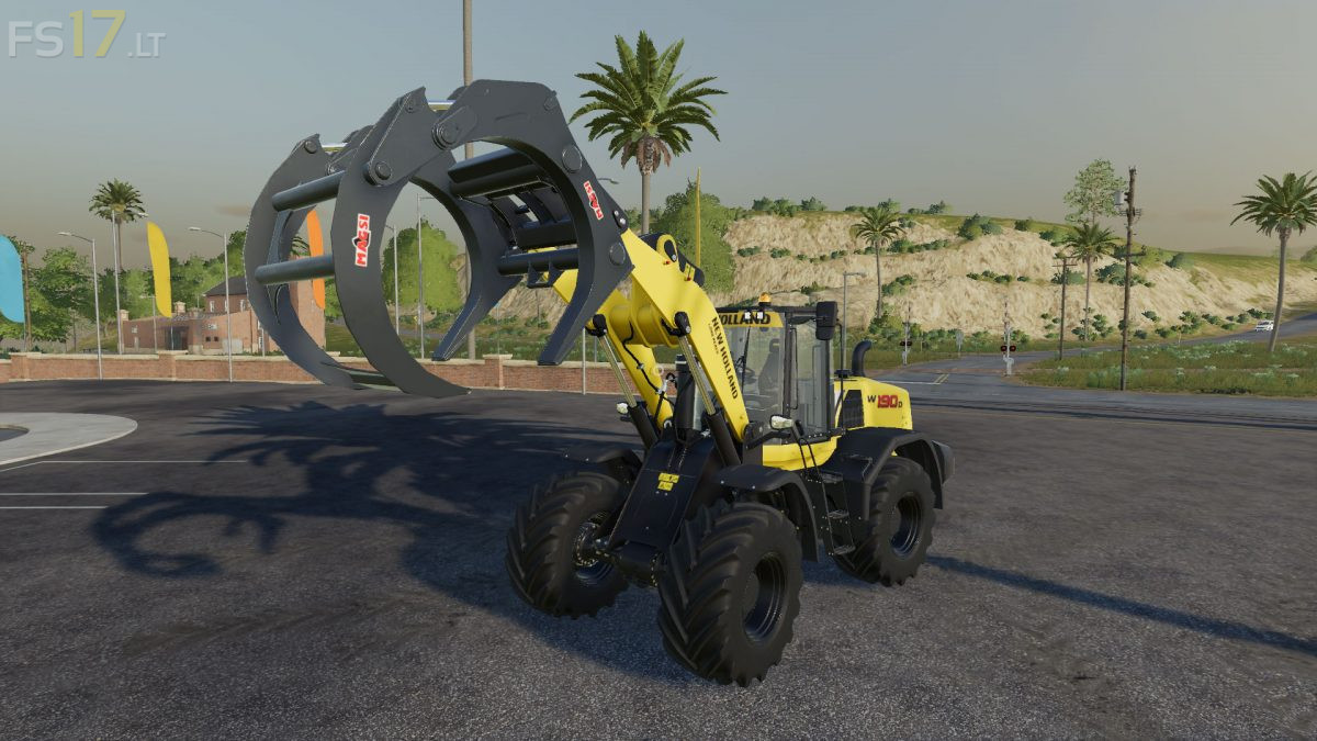Wheel Loader Log Fork v 1 0 - FS19 mods