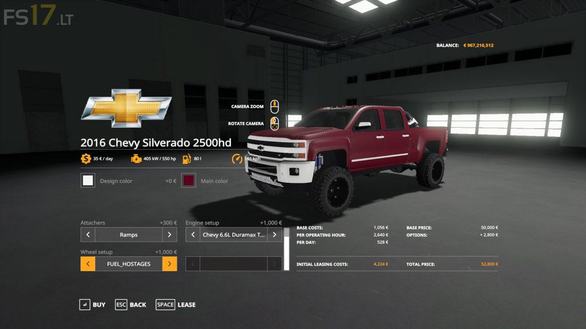 2016 Chevy 2500 HD Duramax v 1.2 - FS19 mods
