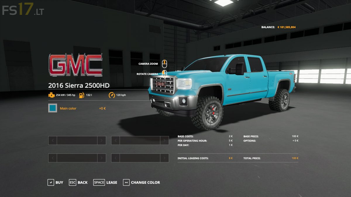 2016 GMC Sierra 2500 HD v 1.1 - FS19 mods