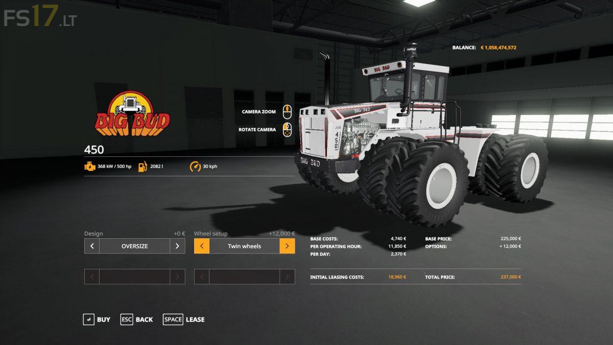 Big Bud 450 v 2 0 - FS19 mods