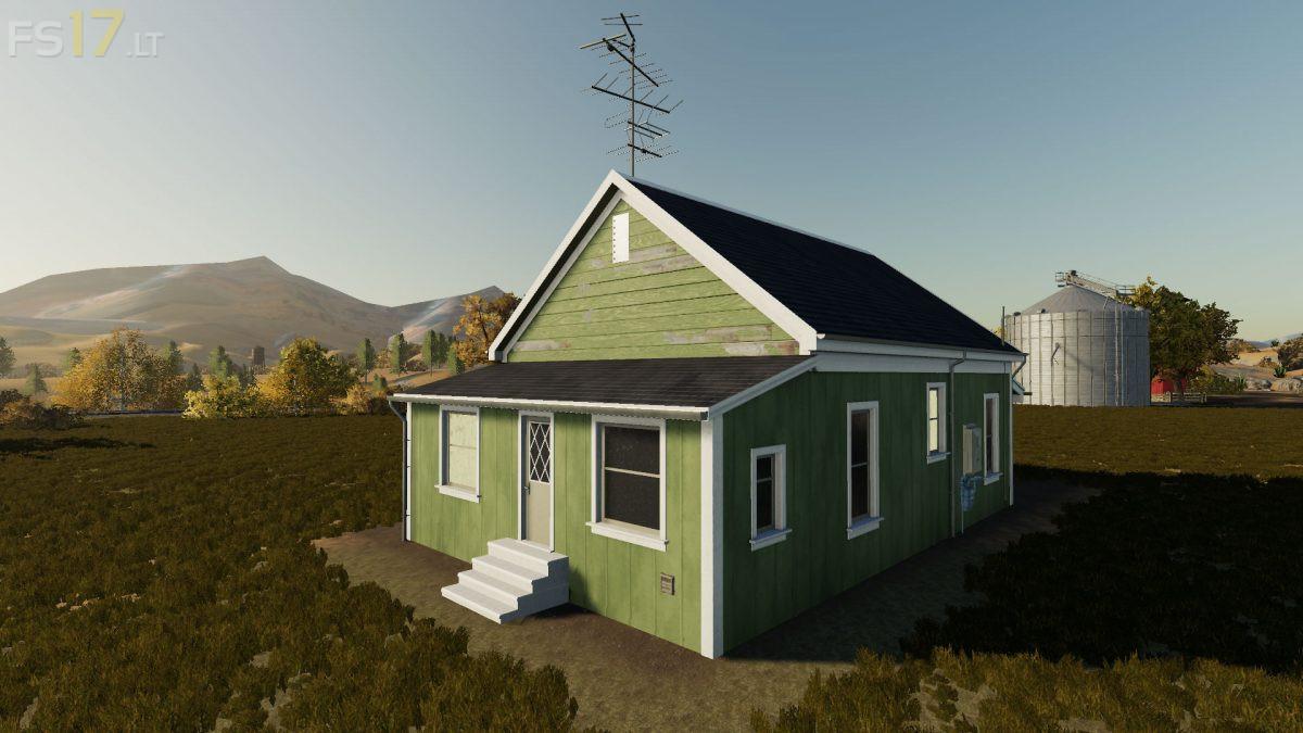 Placeable Green Farm House V 1 0 Fs19 Mods