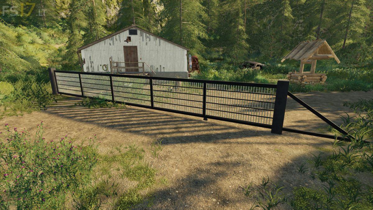 Placeable Sliding Gate v 2 0 - FS19 mods