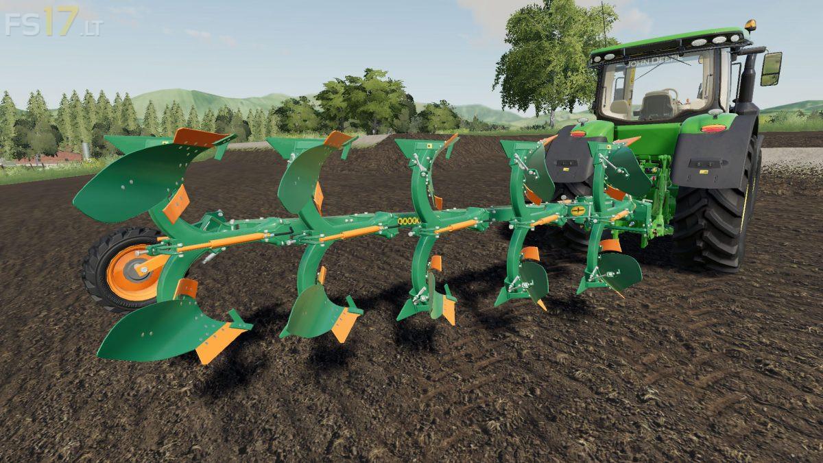 5 Furrows Rollover Plow v 1 0 - FS19 mods
