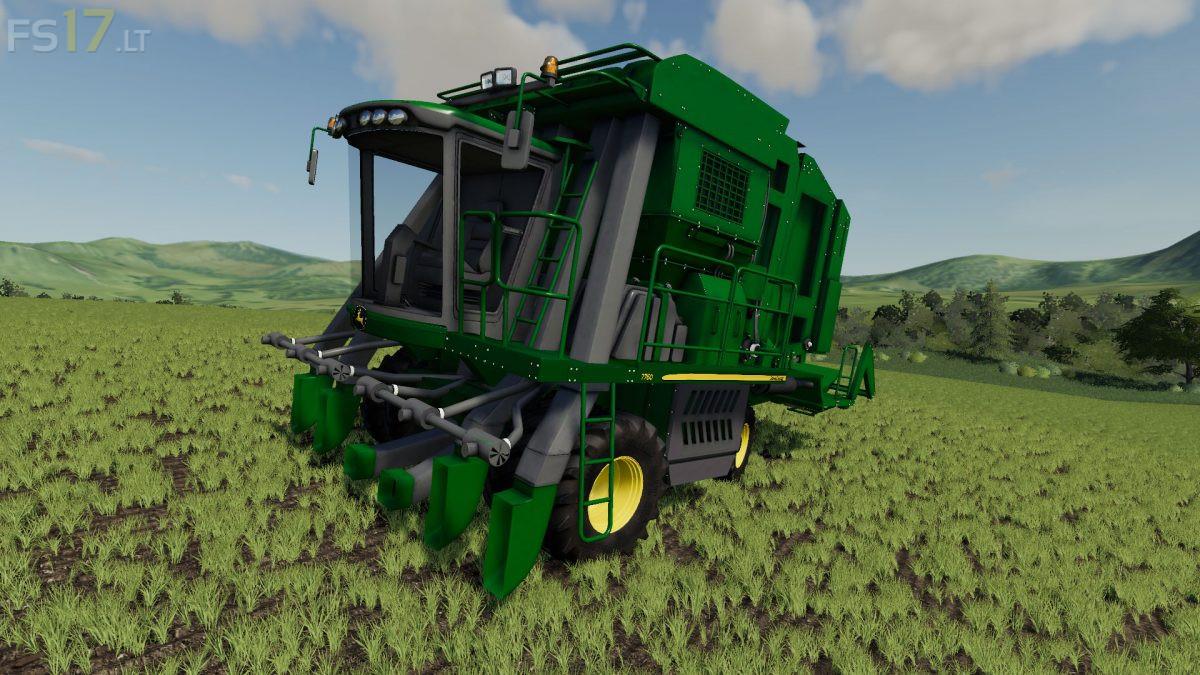 John Deere 7760 Cotton Harvester v 1 0 - FS19 mods