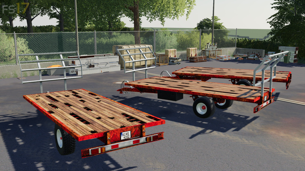 Lizard 20 Foot Bale Trailer v 1 0 - FS19 mods