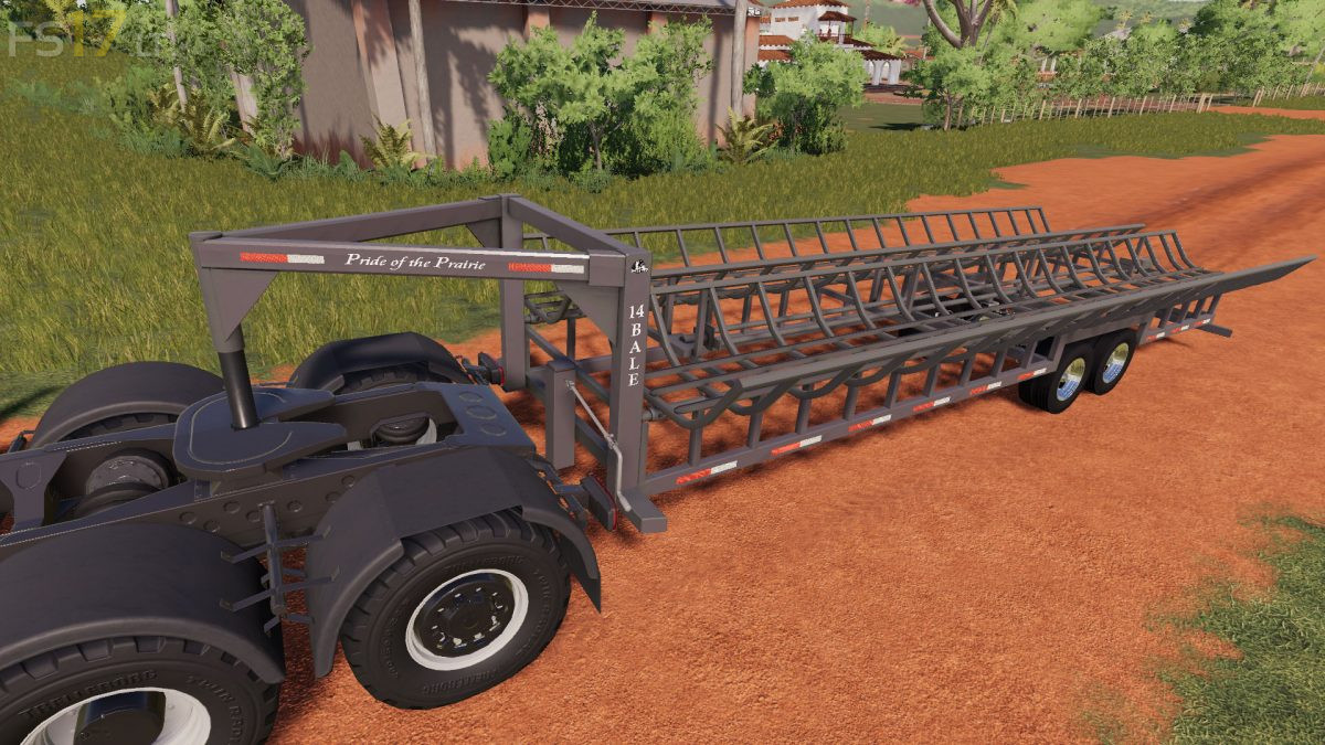 Prarie Bale Trailer v 1 1 - FS19 mods